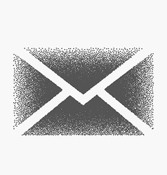 Mail envelop made with dots vector