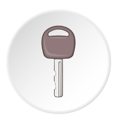 Car key icon cartoon style vector
