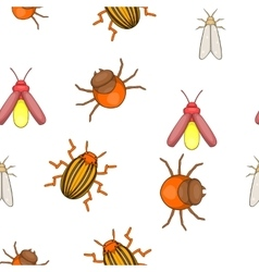 Insects pattern cartoon style vector image