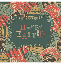 Vintage easter gtreetings vector
