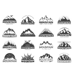Mountain travel labels vector