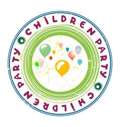 children party vector image