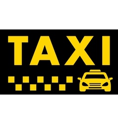 Black taxi background vector