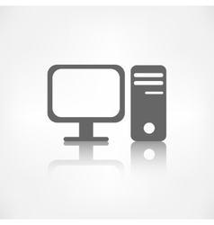 Computer web icon vector