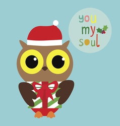 Holiday with owl vector