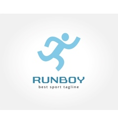 Abstract running people logo icon concept logotype vector