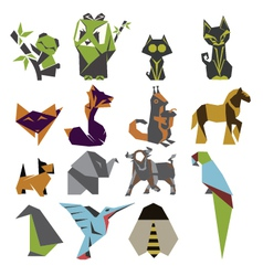 Origami mark set vector