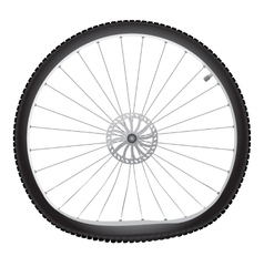 Broken bicycle wheel vector