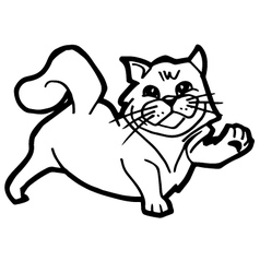 Cartoon cat coloring page for kid vector