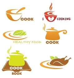meal symbols collection vector image