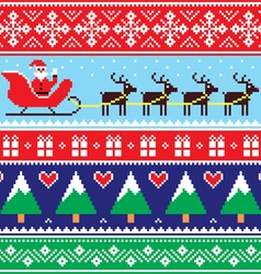 Christmas jumper or sweater seamless pattern vector image