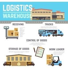 Warehouse cargo logistic infographics vector