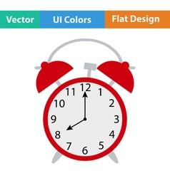 Flat design icon of alarm clock vector