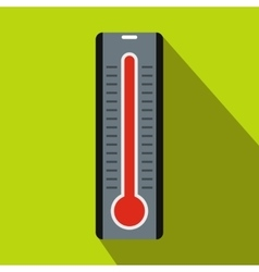 Thermometer icon in flat style vector