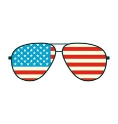 American flag glasses icon vector