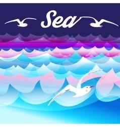 Bright sea background vector image
