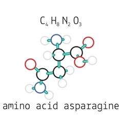 C4h8n2o3 asparagine amino acid molecule vector