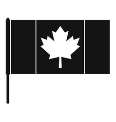 Canada flag with flagpole icon simple style vector