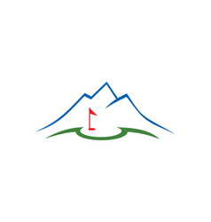 Golf nature landmark logo vector
