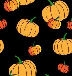 Halloween pattern with pumpkin vector image vector image