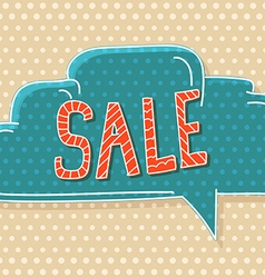 Hand-drawn comic style talk cloud Sale vector image vector image