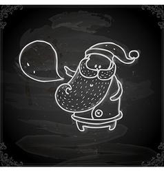 Hand Drawn Father Christmas vector image