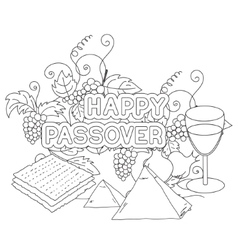 Happy passover greeting card vector