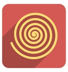 Hypnosis flat rounded square icon with long shadow vector