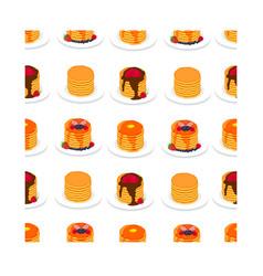 Icon logo for yellow pancake vector
