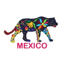 Isolated image of Mexican animal Jaguar vector image vector image