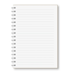 Notebook in line with the spring vector image