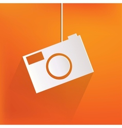 Photo camera web iconflat design vector image vector image
