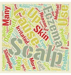 Scalp eczema text background wordcloud concept vector