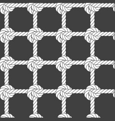Seamless rope mesh - knots pattern vector