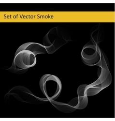 Set of abstract smoke vector