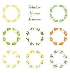 set of leaves frames vector image