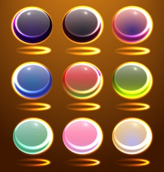 Set of the abstract spheres vector image