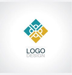 square decoration logo vector image