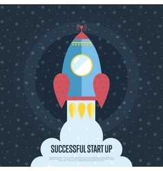 Successful Start Up Cartoon Web Banner vector image