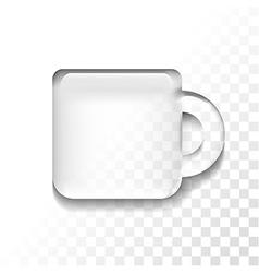 Transparent cup vector