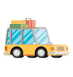 travel car vector image vector image