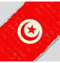 Tunisian grunge flag vector