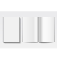 White book template vector image vector image