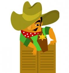wild west cowboy vector image