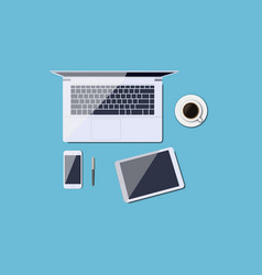 work desk vector image vector image