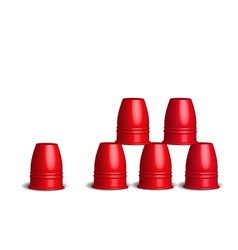 Speed stacks cups stacking sport flying cup game vector