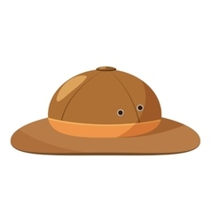Men hiking hat icon cartoon style vector image