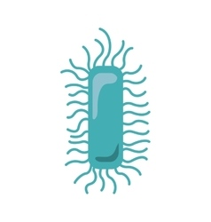 Silhouette light blue with bacteria or virus vector
