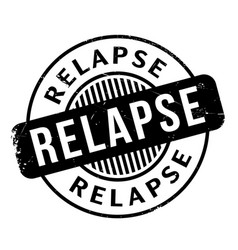 Relapse rubber stamp vector