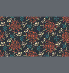 Flower seamless pattern background vector